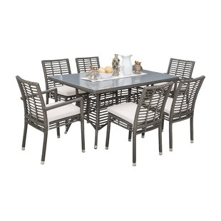 7 Piece Dining Set with Sunbrella Cushions