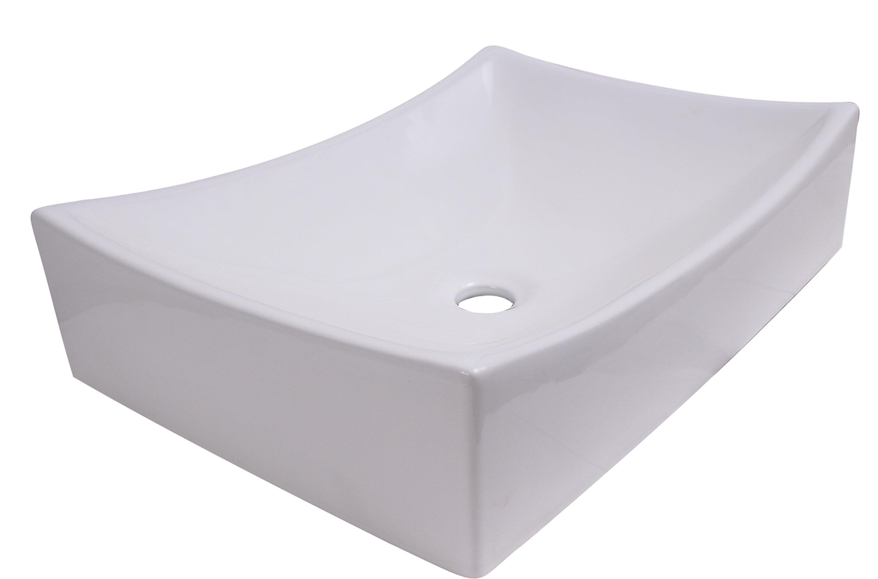 Barclay Styx Vitreous China Rectangular Vessel Bathroom Sink Wayfair