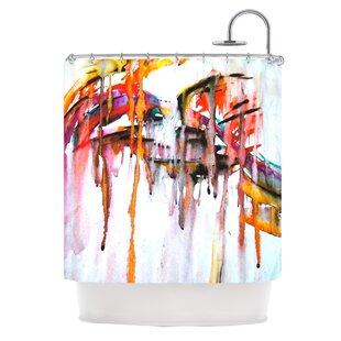 Cascade by Malia Shields Single Shower Curtain