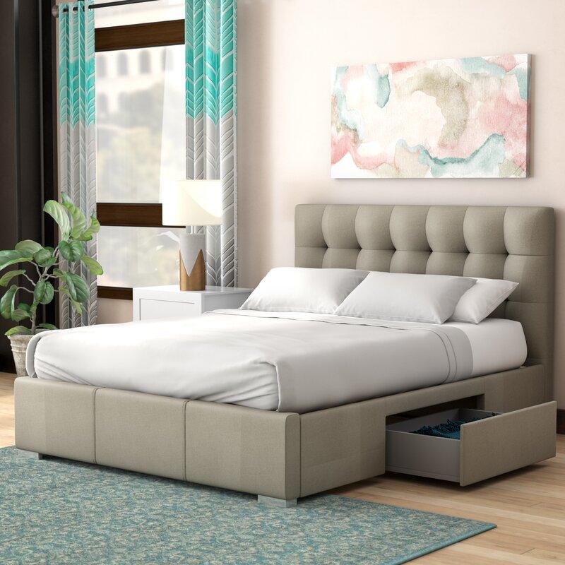 Latitude Run Alejo Upholstered Storage Platform Bed & Reviews   Wayfair
