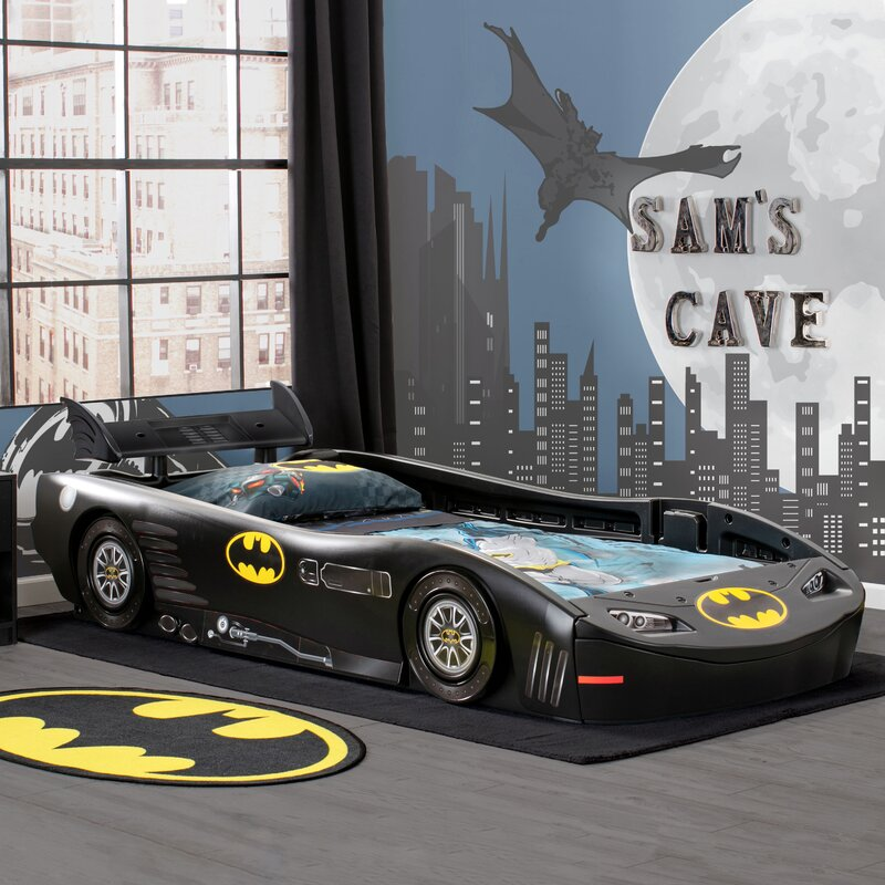 delta children dc comics batmobile batman twin bed \u0026 reviews wayfairKids Race Car Bed Childrens Plans Toddler Blue Canada.jpg #21