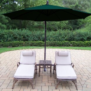 Thelma 4 Piece Aluminum Chaise Lounge Set with Cushions