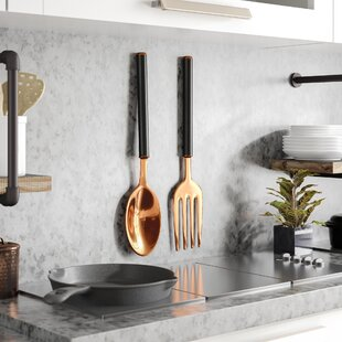 2 Piece Modern Spoon And Fork Wall Décor Set