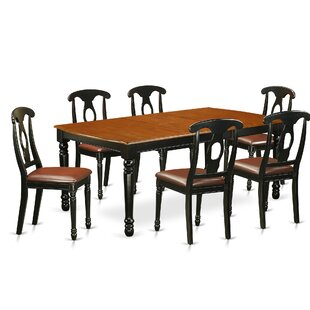 Pimentel 7 Piece Solid Wood Dining Set