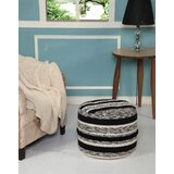 Lacluta Accented Noir Pouf by Bungalow Rose