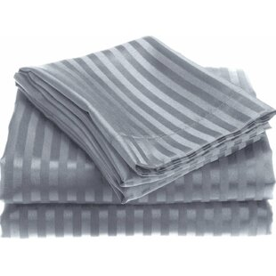 Lecuyer Soft Touch Embossed Stripe Microfiber Sheet Set