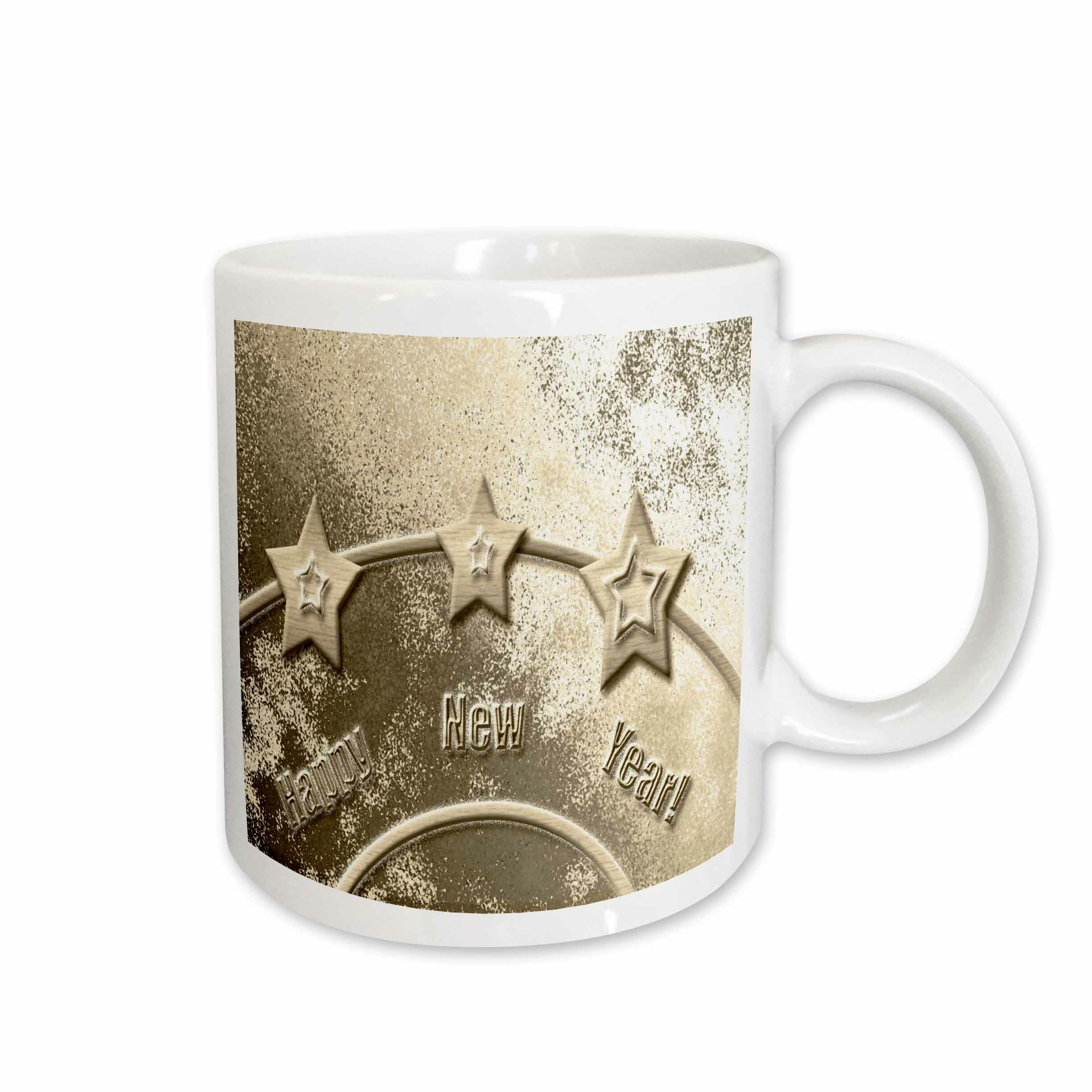 3drose Three Stars On Happy New Year Coffee Mug Wayfair
