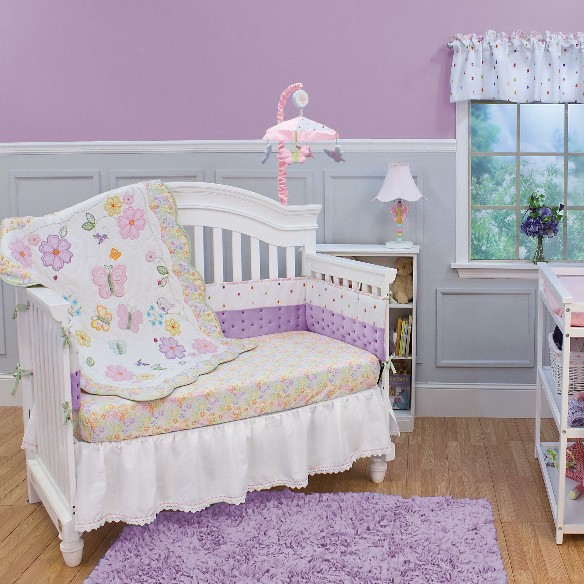 girls furniture table for of picture lamp white toy baby curtain bedding valance nursery shag butterfly set size with patterned modern crib wall full fabulous pink top bedroom rug comforter espresso sets