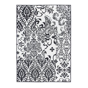 Fowley Rug in Black and Cream by Luxor Living