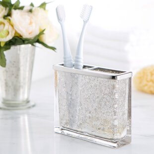 Compare prices Stoutland Mercury Glass Toothbrush Holder By House of Hampton