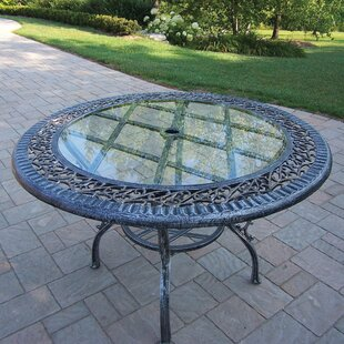 Mississippi Glass Top Aluminum Dining Table