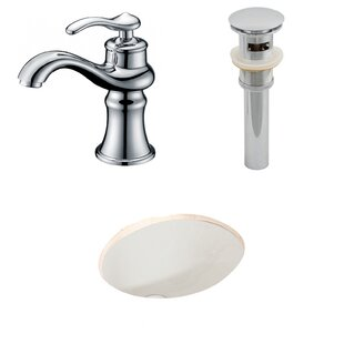 Buying Ceramic Oval Undermount Bathroom Sink with Faucet and Overflow By American Imaginations