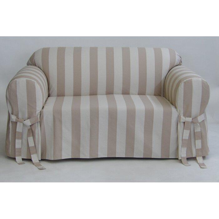 Sensational Stripe Box Cushion Slipcover Short Links Chair Design For Home Short Linksinfo