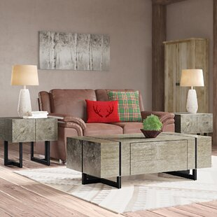 Nieves 3 Piece Coffee Table Set
