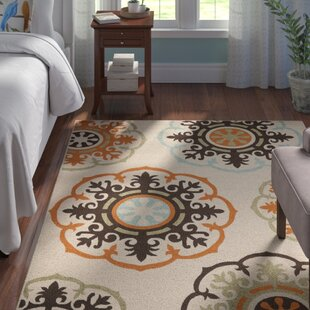 Centeno Power Loomed Beige/Orange/Brown Indoor/Outdoor Area Rug