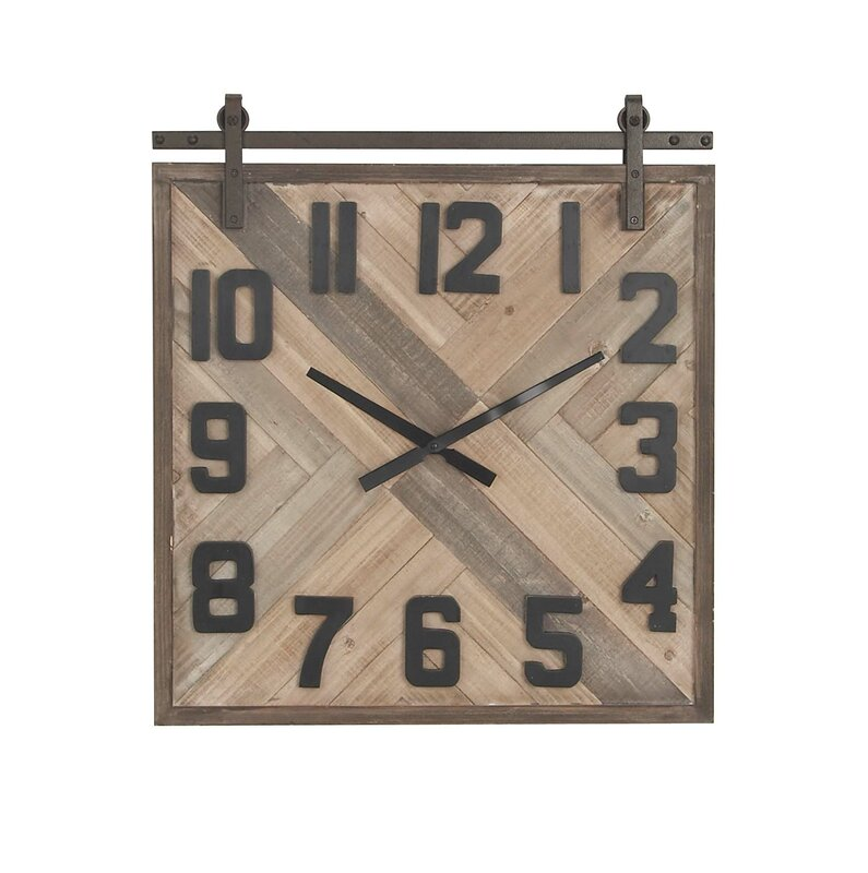 Allport Modern Square Og Wall Clock