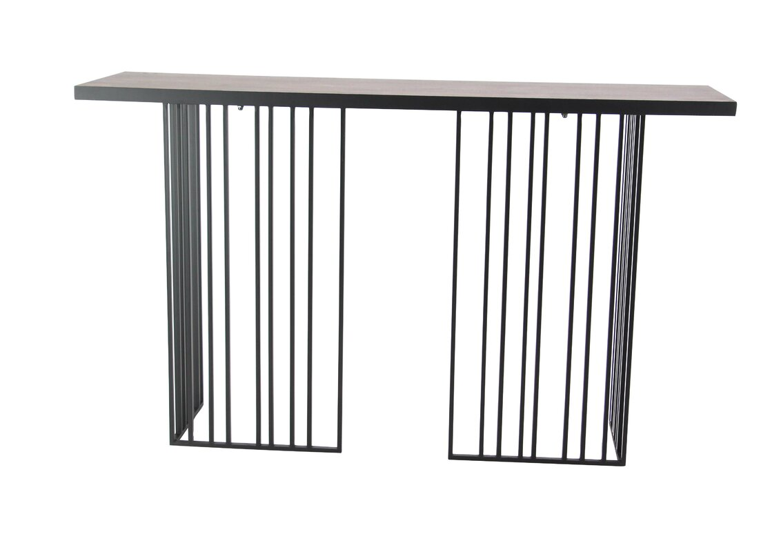 Vertical Console Table ~ Brayden studio chenier modern wood and iron vertical lines