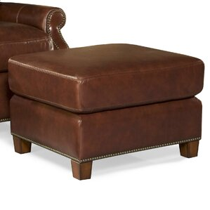 Kingston Leather Ottoman by Palatial Furniture