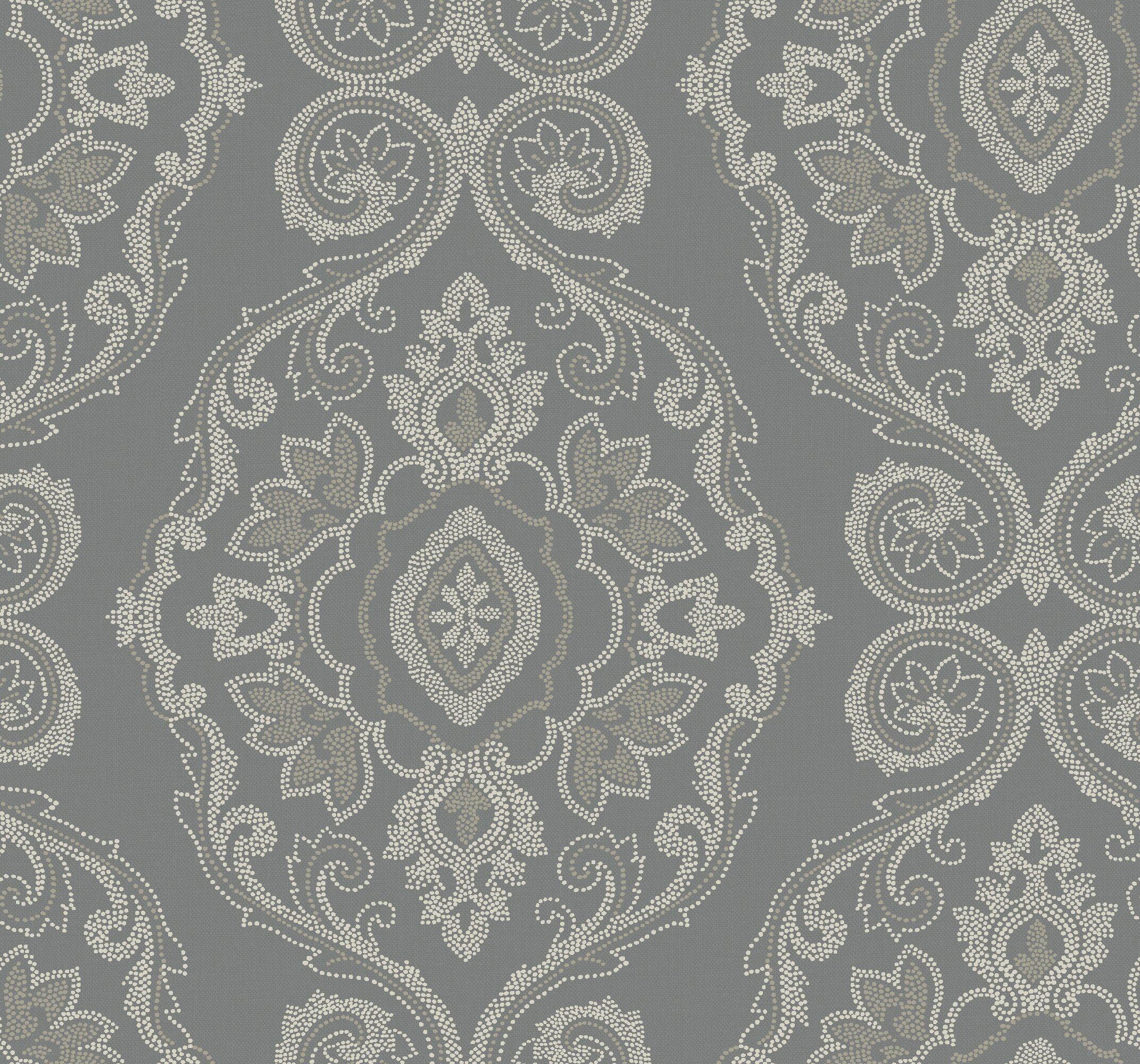 "ABMC Nautical Damask and Contemporary 27' L x 27"" W Wallpaper Roll 
