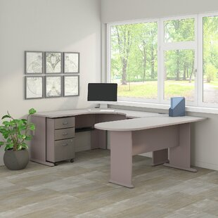 Series A Corner U-Shaped Desk with File Cabinet