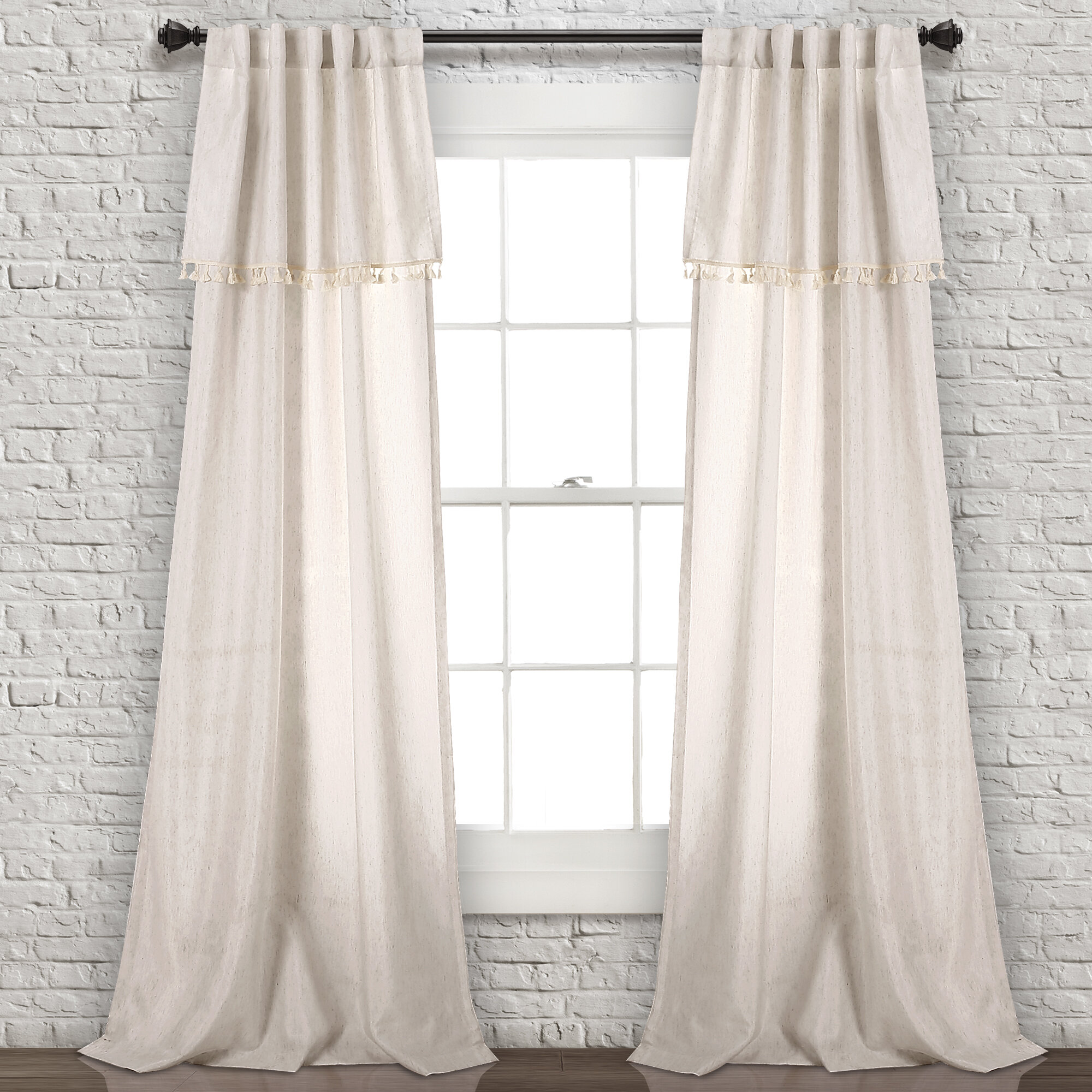 Bungalow Rose Benevides Tel Rod Pocket Curtain Panels Reviews Wayfair