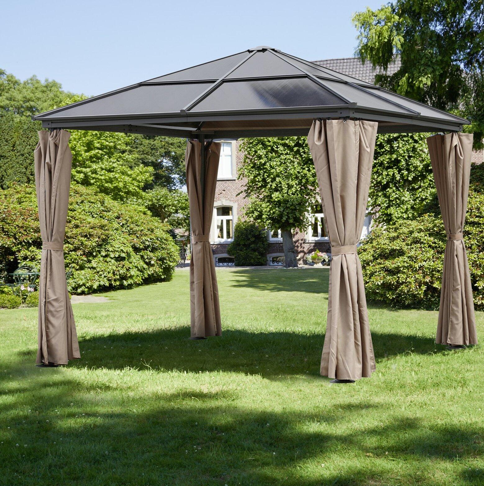 GreemotionUK 300 cm x 300 cm Terrasse Pavillon Hardtop aus Stahl ...