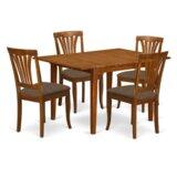 Lorelai Butterfly Leaf Rubberwood Solid Wood Breakfast Nook Dining Set by Alcott Hill®