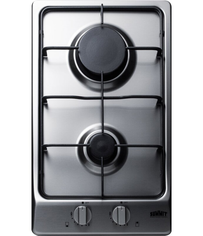 Summit 12 Gas Cooktop With 2 Burners