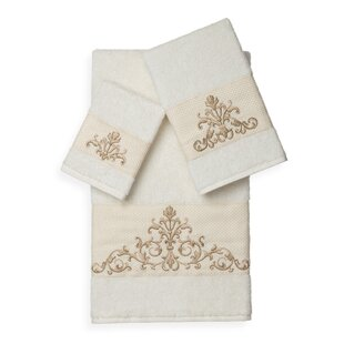 Mcloughlin 3 Piece Turkish Cotton Towel Set
