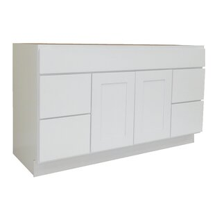 Shaker Cabinet 60 Single Bathroom Vanity Base by NGY Stone & Cabinet