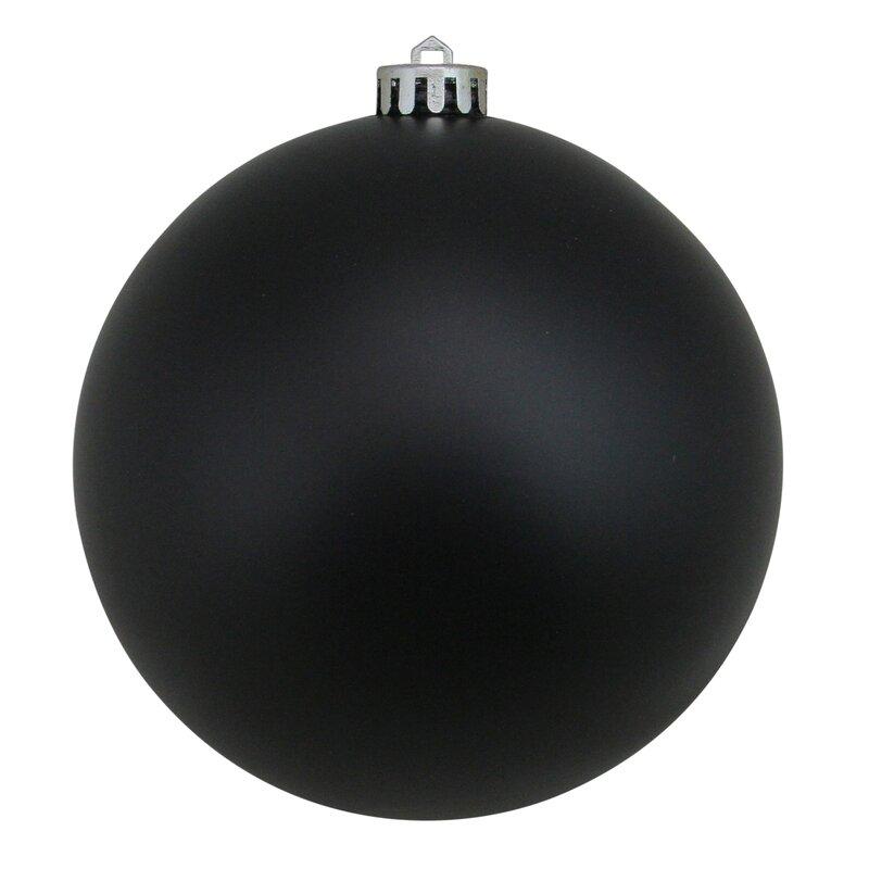Northlight Jet Black Shatterproof Matte Commercial Christmas Ball Ornaments 6 150mm Wayfair