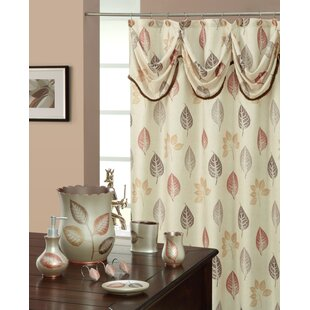 Spa Leaf Decorative Single Shower Curtain