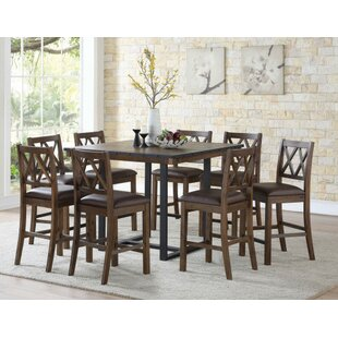 Word 9 Piece Counter Height Dining Set by Gracie Oaks Comparison