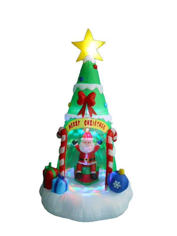 The Holiday Aisle Christmas Tree With Santa Claus