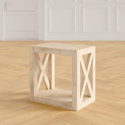 Batchelor Solid Wood Floor Shelf End Table Joss Main