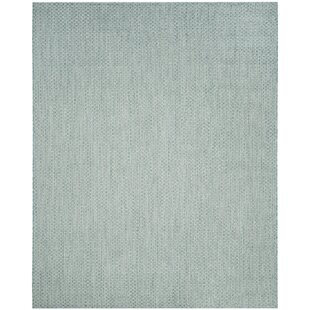 Jefferson Place Light Blue/Light Gray Indoor/Outdoor Area Rug by Wrought Studio