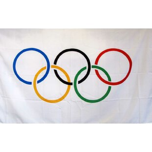 Olympics Logo Only Polyester 3 x 5 ft. Flag By NeoPlex