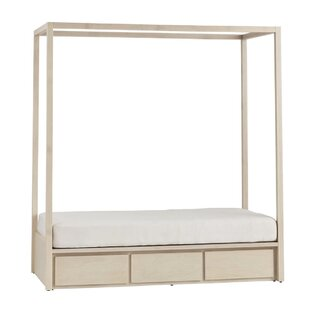Kadon Twin Storage Canopy Bed without Headboard