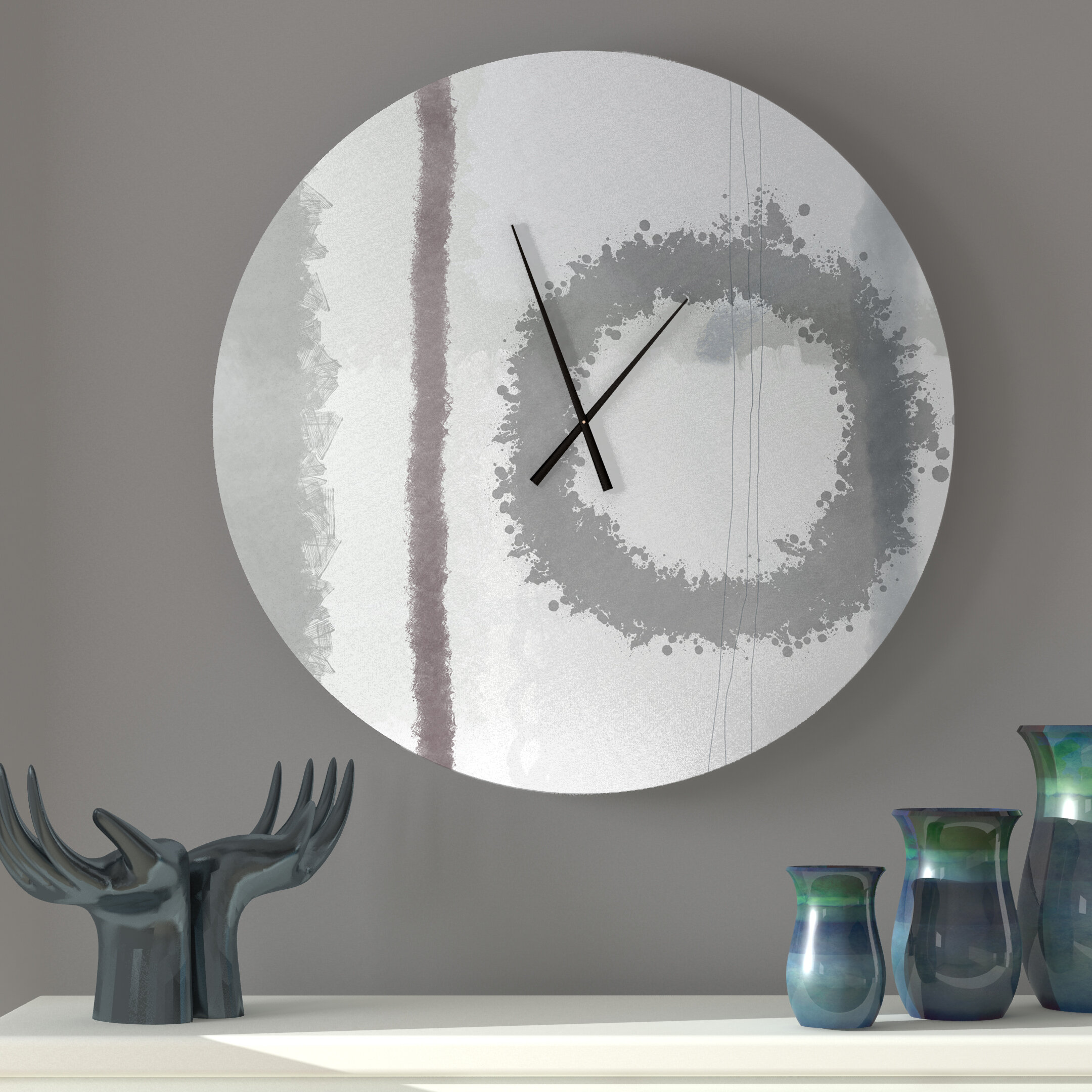 Latitude Run Collected Pumped Up Abstract Metal Wall Clock Wayfair