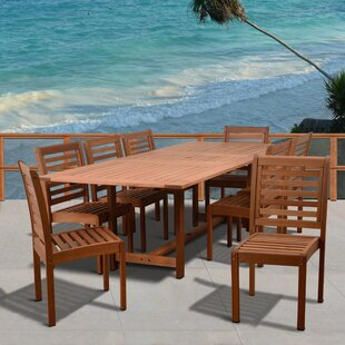 Gutierrez 9 Piece Dining Set