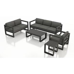 Remi 5 Piece Sofa Seating Group with Sunbrella Cushions
