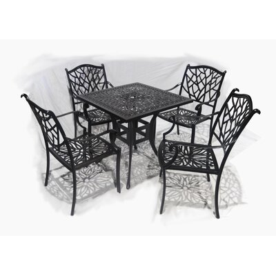 Brunet 5 Piece Dining Set by Winston Porter Fresh