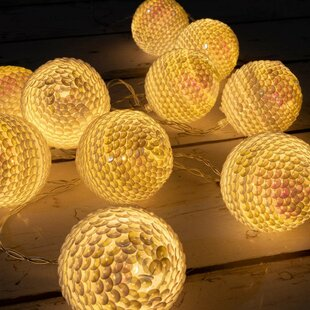 Kathleen LED Fairy Light Globe Balls 10 Light Novelty String Lights By The Holiday Aisle Outdoor Lighting