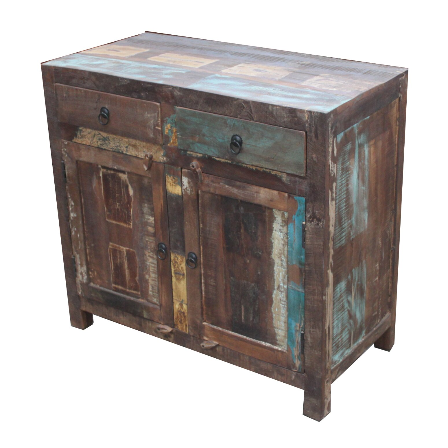 Reclaimed Wood 2-Door 2 Drawer Sideboard Cabinet - Timbergirl Reclaimed Wood 2-Door 2 Drawer Sideboard Cabinet