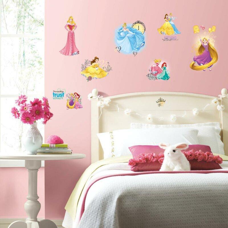 Disney Princess Castle Self-Adhesive Peel and stick wall decor decal sticker
