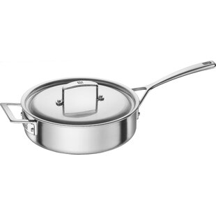 Aurora 5-Ply Stainless Steel 3-Qt. Saute Pan