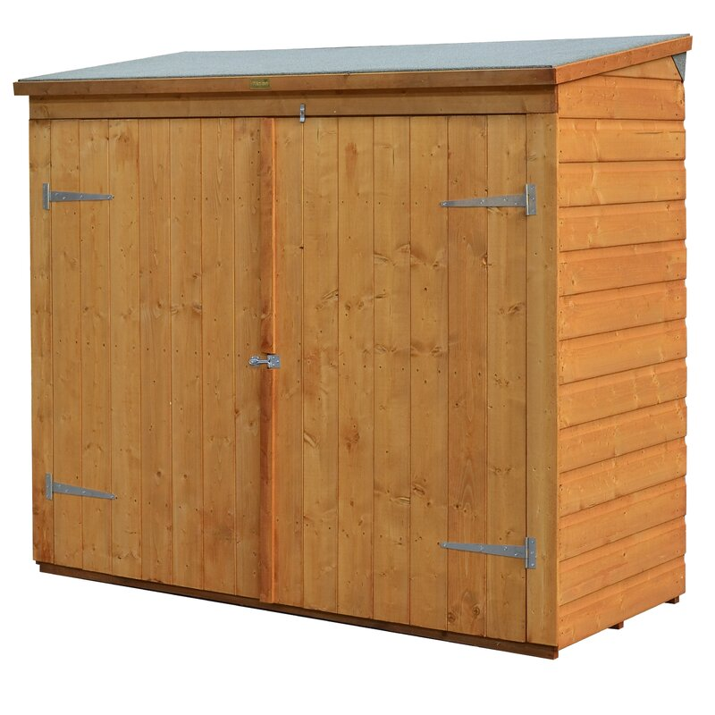 6 ft w x 2 ft 6 in d wooden vertical bike shed - Garden Sheds 6 X 2