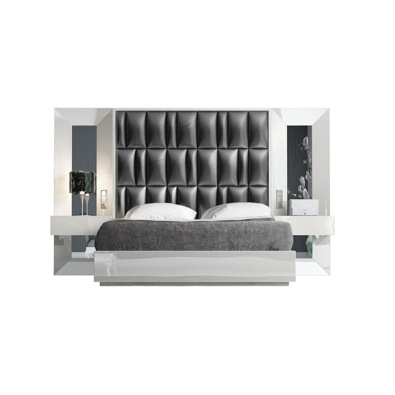 Orren Ellis Tufted Solid Wood And Upholstered Standard Bed Wayfair