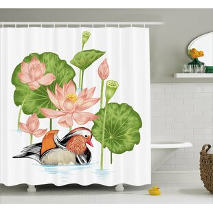 Angelo Mandarin in Pond Lilies Single Shower Curtain