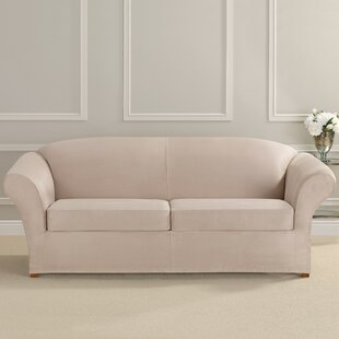 Ultimate Heavyweight Stretch Suede Box Cushion Sofa Slipcover